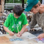 Volunteer with Camper 2015